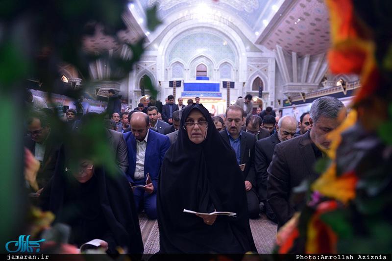 تجدید میثاق رئیس و کارکنان سازمان ملی استاندار ایران با آرمان امام(س)