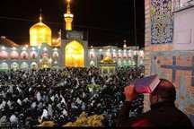 برگزاری مراسم شب قدر در حرم مطهر رضوی   وداع با 2 شهید مدافع حرم