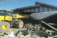 500  ساخت وساز غیر مجاز  در ساوجبلاغ تخریب شد