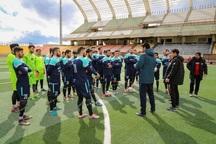 تیم فوتبال 90 در ورزشگاه 15 هزار نفری ارومیه تمرین کرد