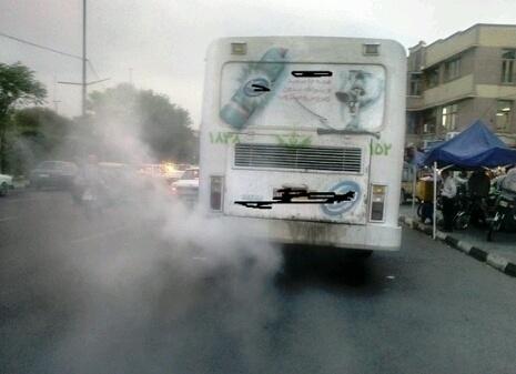 جلوگیری از تردد اتوبوس های دودزا در کرج   پروژه های آلاینده شهرداری تعطیل می شود