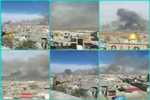 آتش بخشی از جنگل های مرزی جمهوری آذربایجان در جوار پارس آباد مغان را فراگرفت