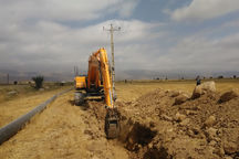 عملیات اجرایی پروژه آبیاری تحت فشار پایاب سد سرخاب نیر آغاز شد