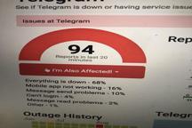 تلگرام امروز صبح دچار اختلال شد