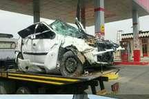 واژگونی خودرو در گتوند یک کشته و سه مصدوم برجای گذاشت