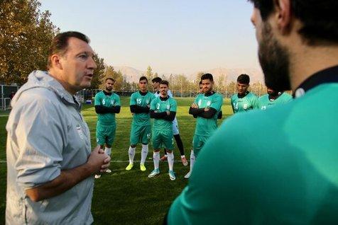 گزارش تصویری تمرین تیم ملی فوتبال برای بازی با عراق