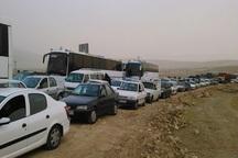 ترافیک سنگین در مسیرهای منتهی به گذرگاه مرزی چذابه