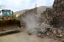 تخریب 5 بنای غیر مجاز در اراضی قزوین