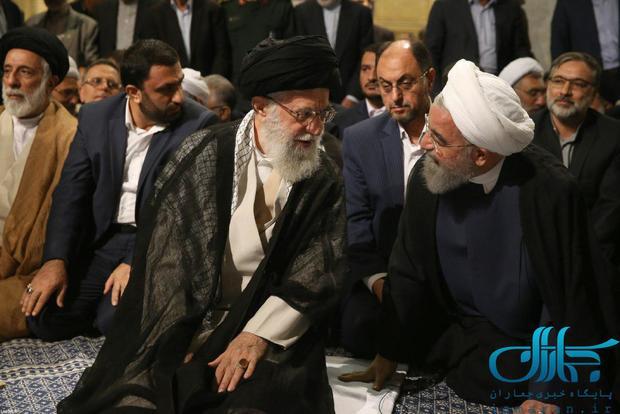 گفت و گوی رهبر معظم انقلاب و رئیس جمهور روحانی+عکس