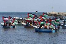 عکس/ پیش به سوی شکستن حصر دریایی غزه