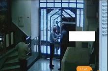 تصاویر دوربین مداربسته سرقت امروز صبح از بانک ملی در نعمت آباد تهران