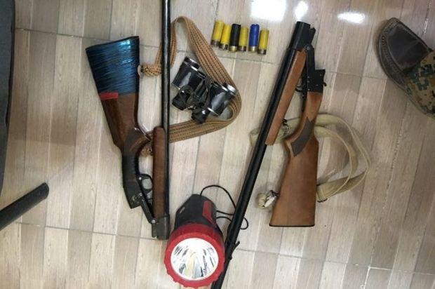 یک شکارچی متخلف در پارک ملی گلستان دستگیر شد