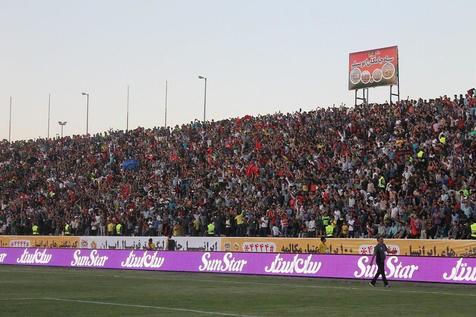 شعار جالب هواداران پرسپولیس در مشهد: پرسپولیس گل نزن بزار صبا بیفته!