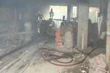 آتش سوزی ساختمان نیمه کاره در فلکه اول دولت آباد تهران با یک مصدوم