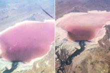 عمق فاجعه؛ دو تصویر از دریاچه مهارلو