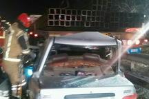 تصادف پراید با تریلر در تهران یک کشته داشت