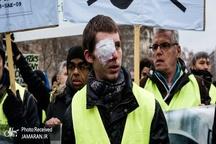راهپیمایی جلیقه زردهای یک چشم+ تصاویر
