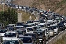 بارش باران  ترافیک پرحجم در راه های البرزایجاد کرد