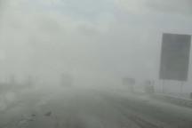 جاده های زنجان پوشیده از مه غلیظ است