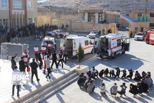 بیست و یکمین مانور زلزله و ایمنی در مدارس ایلام برگزار شد
