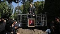 پیکر نادر گلچین با حضور اساتید موسیقی به خانه ابدی بدرقه شد / عکس