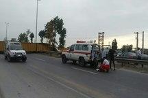 برخورد کامیون با پل عابرپیاده در محور گرگان-علی آباد کتول