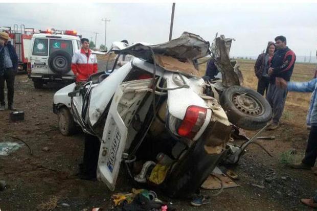 تصادف در جاده بیجار به دیواندره 2 کشته برجای گذاشت