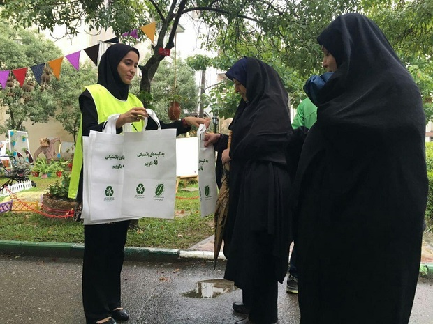 طرح «نه به کیسسه های پلاستیکی» در شهرستان ری اجرا شد