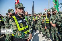۱۰ هزار نفر امنیت زائران در مهران را تامین کردند