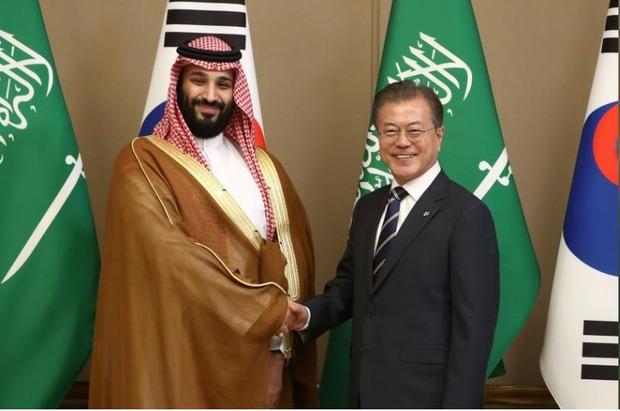 دیدار بن سلمان با رئیس جمهور کره جنوبی+عکس