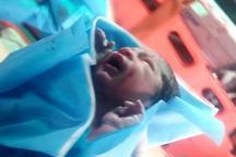 نوزاد عجول با کمک اورژانس هوایی دزفول متولد شد