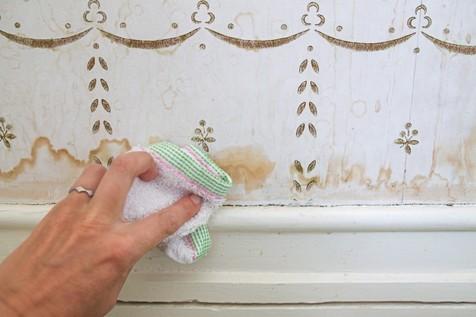 ترفندهایی ساده برای تمیز کردن کاغذ دیواری