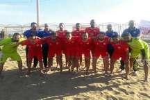 تیم فوتبال ساحلی شهرداری بندرعباس مقابل تیم ملی لبنان شکست خورد