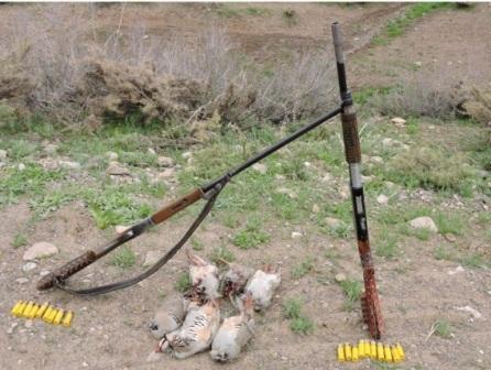دستگیری شکارچیان غیرمجاز پرنده در فریدونشهر