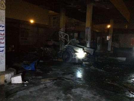 یک کشته و هشت زخمی در انفجار جایگاه CNG در اهواز