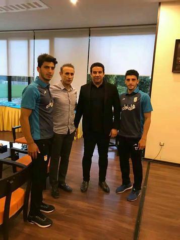 گلمحمدی با کرانچار در تمرین تیم امید  دیدار کرد + عکس