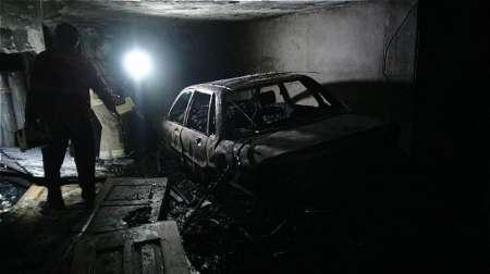 آتش سوزی در پارکینگ یک ساختمان 11 طبقه اداری در بلوار کشاورز تهران بدون مصدومیت مهار شد