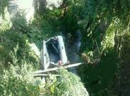 یک کشته و 4 مصدوم در سقوط پراید +عکس