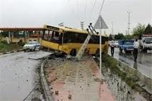 واژگونی اتوبوس خط واحداتوبوسرانی شیراز 13 مصدوم برجای گذاشت