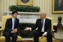 چهره جالب نخستوزیر کانادا هنگام دست دادن با ترامپ+عکس