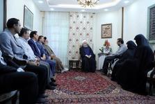 دیدار سرزده رئیسجمهور روحانی با یک جانباز