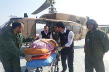 مادر باردار ملکانی با بالگرد اورژانس به تبریز منتقل شد