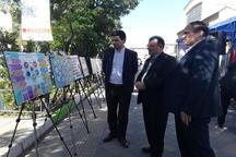 بازدید رئیس جهاددانشگاهی استان اردبیل از نمایشگاه عملکرد دستگاه های اجرایی استان
