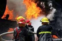 آتش سوزس یم واحد تجاری در مشهد