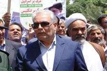 فرماندار بردسکن: روز قدس نماد یکپارچگی ایران در  برابر ابرقدرت ها است