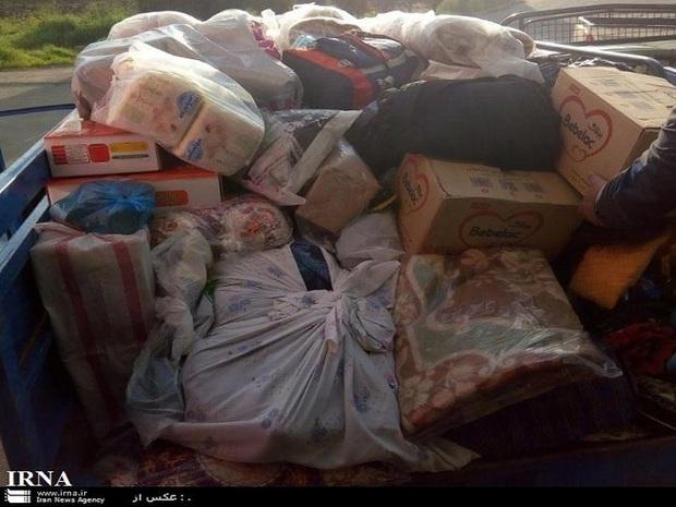 کمک های مردمی به شهرستان چگنی ارسال شد