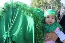 همنوایی شیرخوارگان حسینی در استان مرکزی