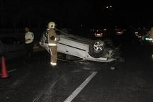 واژگونی خودرو در قاین یک کشته و سه مصدوم داشت