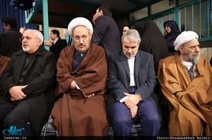 مراسم وداع با پیکر آیت الله هاشمی رفسنجانی در حسینیه جماران