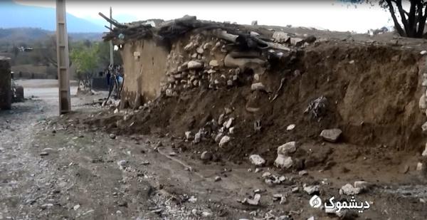 ورود آب به منازل مسکونی روستای لاوه پاتل دیشموک